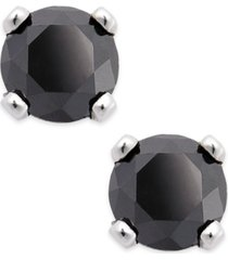 black diamond round stud earrings in 10k white gold (1/5 ct. t.w.)
