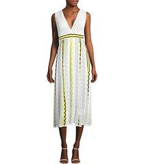 ribbon wave stripe dress