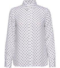 dillon classic-fit shirt långärmad skjorta vit banana republic