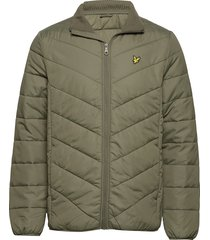 puffer jacket gevoerd jack groen lyle & scott