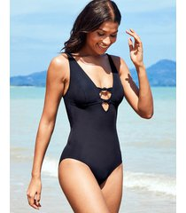 icon florence non wired plunge shaping one-piece swimsuit