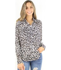 blusa sara animal print jacinta tienda