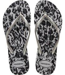 slim animal flip flops