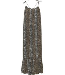taylor leopard halterneck dress maxiklänning festklänning brun notes du nord