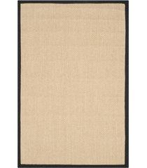 safavieh natural fiber maize and black 4' x 6' sisal weave area rug