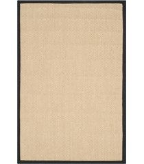 safavieh natural fiber maize and black 4' x 6' sisal weave rug