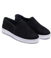 natori plume slip on shoes, women's, black, size m/8 natori