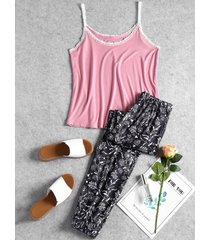 cami top and floral pants sleep set