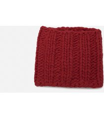 j.w. anderson red knit neck warmer