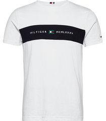 new logo tee t-shirts short-sleeved vit tommy hilfiger