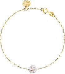 bransoletka złota kwiatek agat