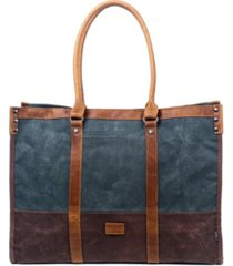 tsd brand stone creek waxed canvas tote bag