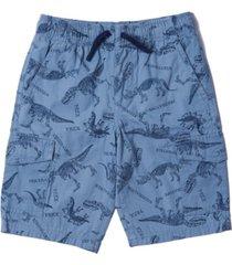 little boys all over print tie waist cargo shorts