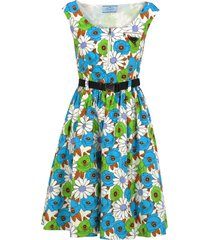 prada prada floral print flared dress