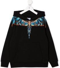 marcelo burlon blue grizzly wings hoodie
