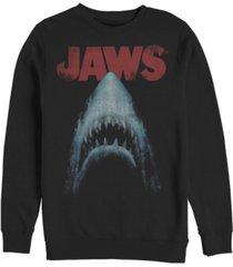 fifth sun men's jaws poster crew fleece pullover t-shirt
