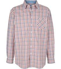 overhemd roger kent wit::bruin::oranje