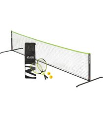 zume games portable, instant tennis set includes 2 rackets, 2 balls, net, and carrying case
