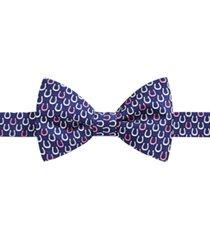 tommy hilfiger men's derby horseshoe pre-tied silk bow tie