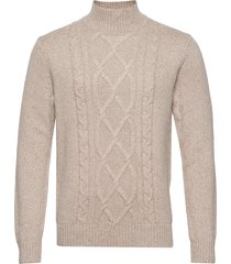 wool-blend mock-neck sweater knitwear turtlenecks beige banana republic