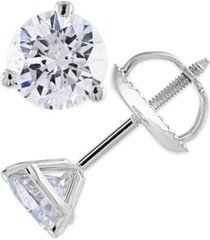 certified 1-1/2 ct. t.w. diamond stud earrings in 14k white or yellow gold