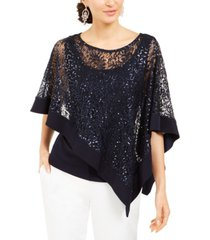 r & m richards sequinned-overlay top