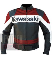 kawasaki 2020 red leather motorcycle motorbike biker  armour racing jacket