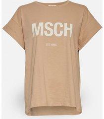 moss copenhagen t-shirt 14485 alva beige