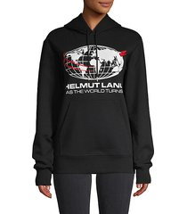 world turns stretch-cotton hoodie