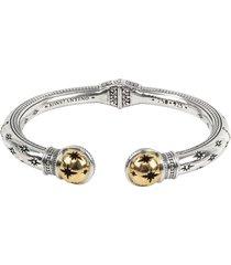 konstantino astria starburst sterling silver cuff bracelet, size medium in gold at nordstrom