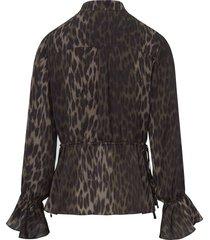 blouse met v-hals van steffen schraut multicolour