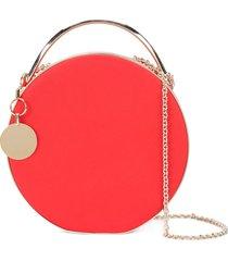 eddie borgo chain strap round clutch - red