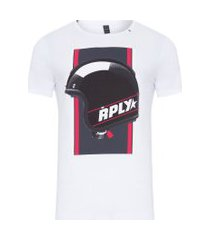 t-shirt masculina helmet - branco