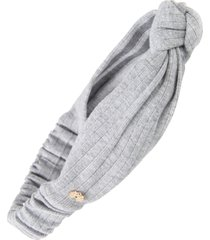 lele sadoughi knotted performance headband in heather grey at nordstrom
