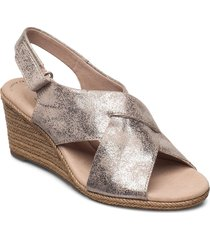 lafley alaine sandalette med klack espadrilles grå clarks