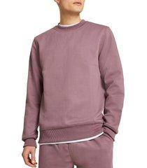 men's river island premium essentials crewneck pullover, size small - pink