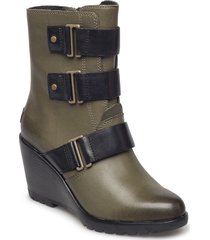 after hours bootie shoes boots ankle boots ankle boots with heel grön sorel