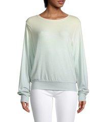 wildfox women's shore ombré sweatshirt - shore ombre - size s