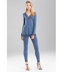 undercover top pajamas, women's, blue, size xs, josie natori