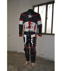 custom handmade captain america the first avenger leather suit, two piece suit