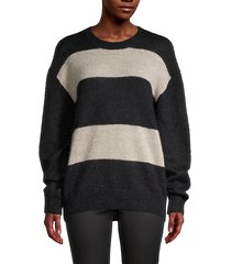 elkins colorblock mohair-blend sweater