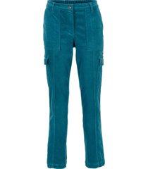 pantaloni cargo di velluto loose fit (petrolio) - bpc bonprix collection