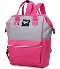 mochila cartera rosa combinada everlast
