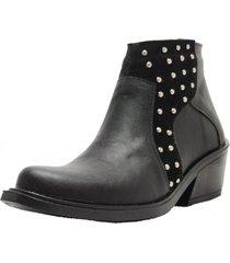 botineta negra rosevelt shoes belu