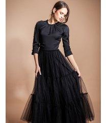 suknia wieczorowa z tiulem