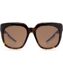 balenciaga balenciaga bb0025s havana sunglasses