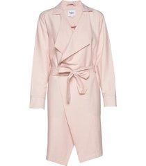 u7012, jacket dunne lange jas roze saint tropez