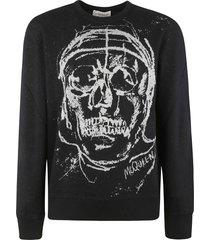 alexander mcqueen skull jacquard sweatshirt