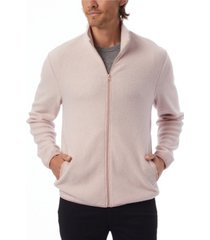 alternative apparel men's eco teddy full-zip fleece jacket