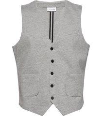 knitted waistcoat kostymväst grå lindbergh